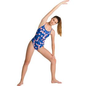 arena Polka Cherry Challenge Back Traje Baño Una Pieza Mujer, azul/Multicolor